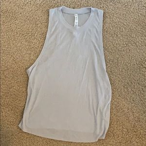 All yoga gray muscle tank top